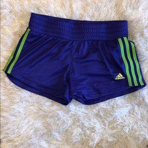 Adidas Sz M Purple and Green Shorts EUC